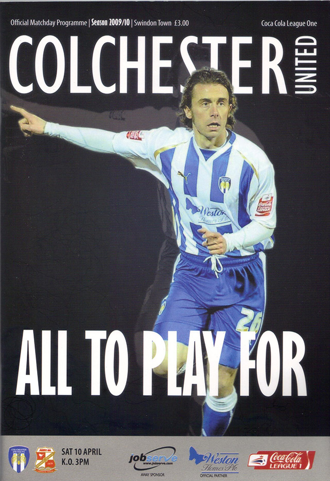 <b>Saturday, April 10, 2010</b><br />vs. Colchester United (Away)