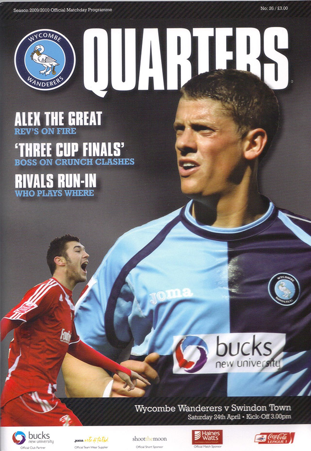 <b>Saturday, April 24, 2010</b><br />vs. Wycombe Wanderers (Away)