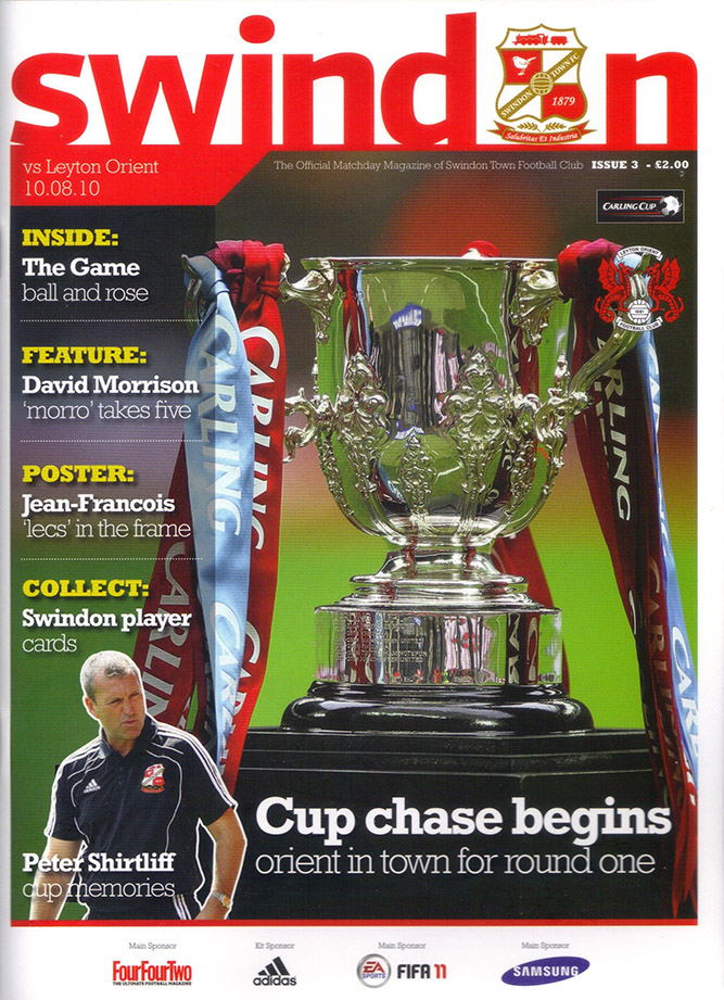 <b>Tuesday, August 10, 2010</b><br />vs. Leyton Orient (Home)