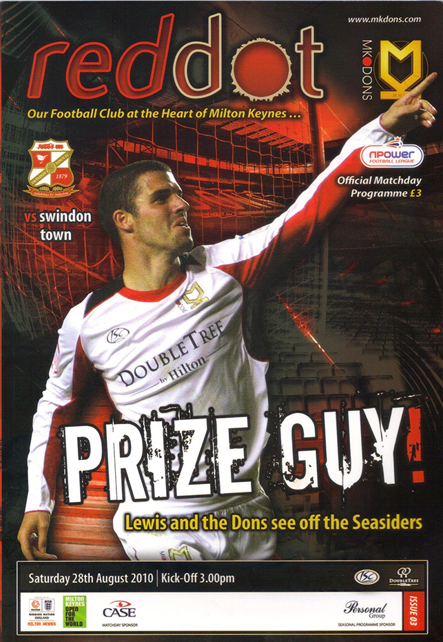 <b>Saturday, August 28, 2010</b><br />vs. Milton Keynes Dons (Away)