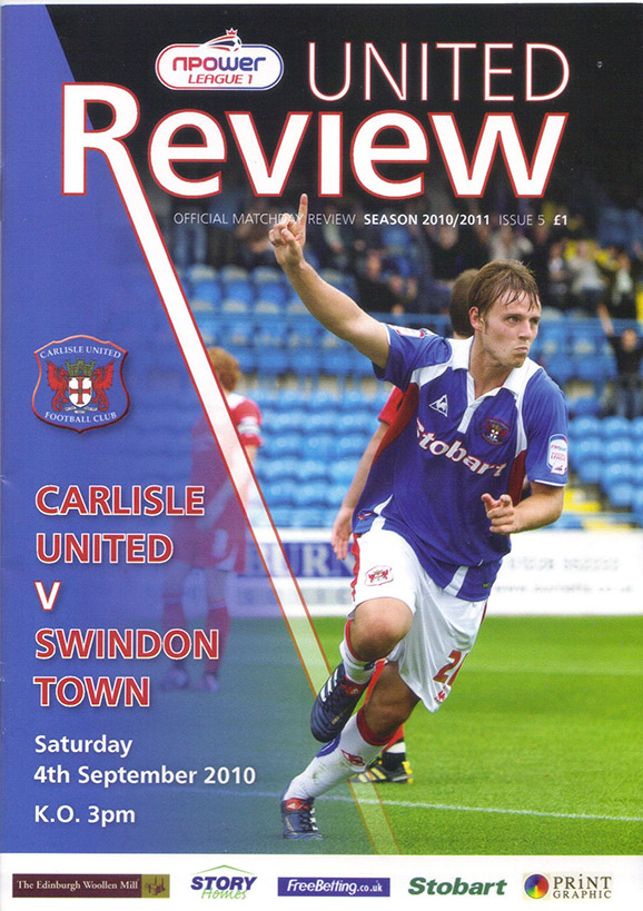 <b>Saturday, September 4, 2010</b><br />vs. Carlisle United (Away)