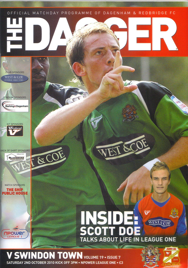 <b>Saturday, October 2, 2010</b><br />vs. Dagenham and Redbridge (Away)