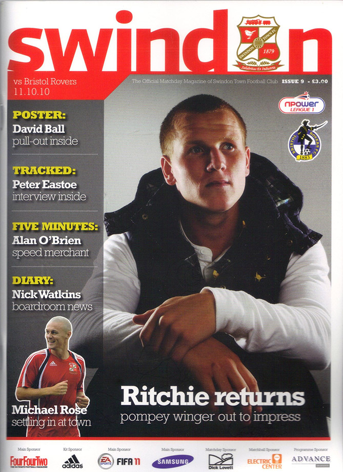 <b>Monday, October 11, 2010</b><br />vs. Bristol Rovers (Home)