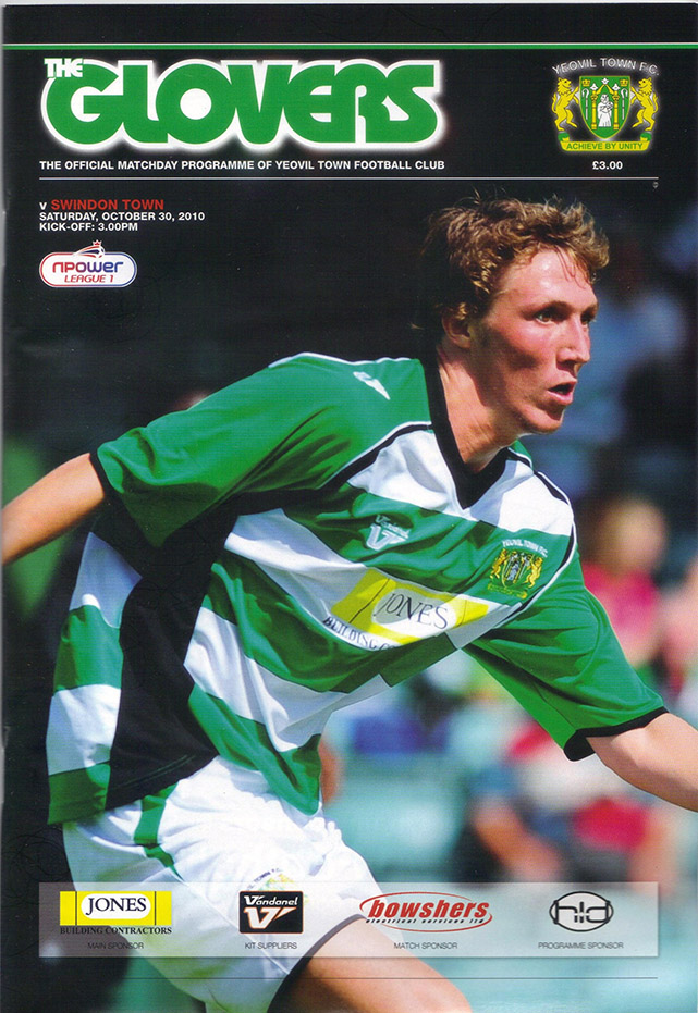 <b>Saturday, October 30, 2010</b><br />vs. Yeovil Town (Away)