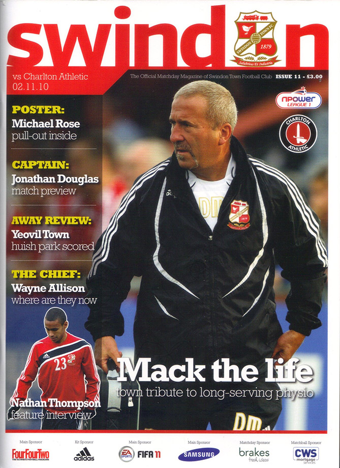 <b>Tuesday, November 2, 2010</b><br />vs. Charlton Athletic (Home)