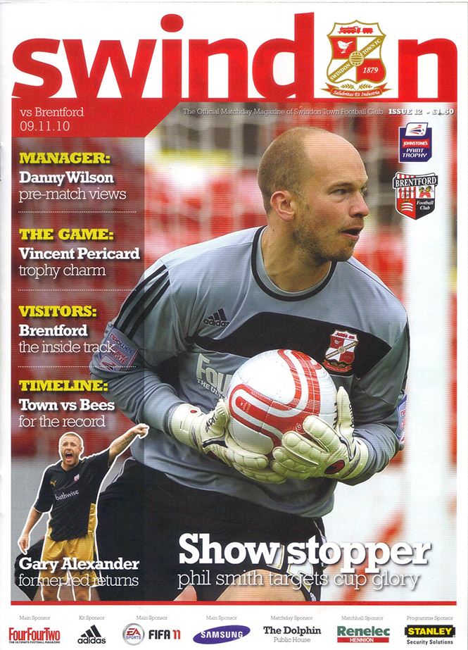 <b>Tuesday, November 9, 2010</b><br />vs. Brentford (Home)