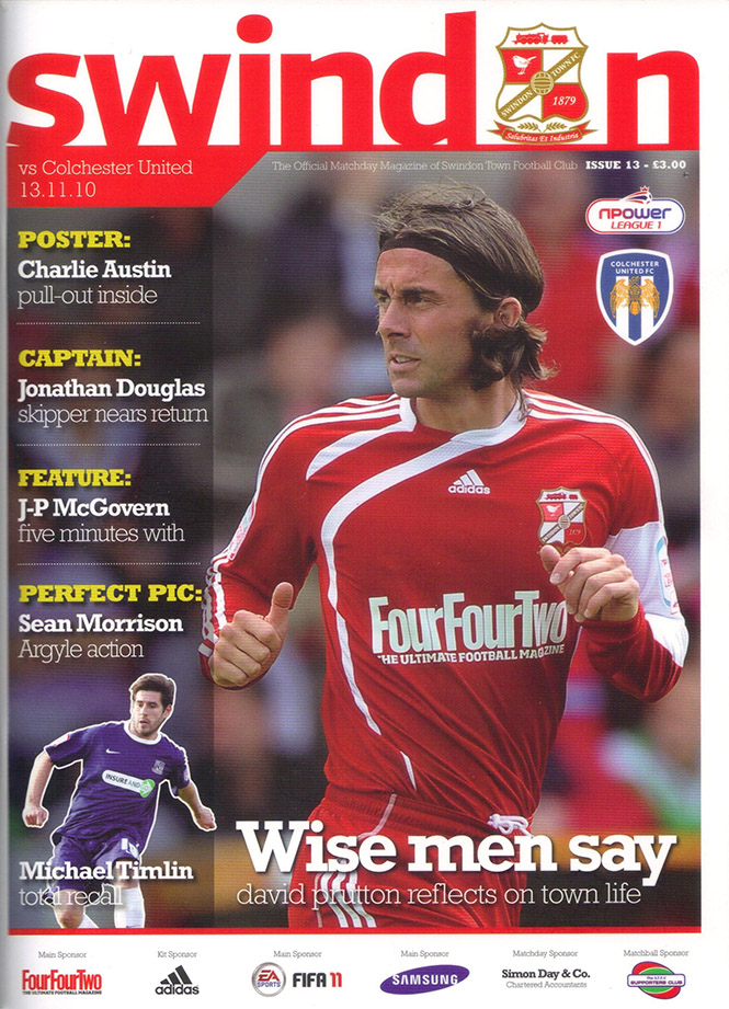 <b>Saturday, November 13, 2010</b><br />vs. Colchester United (Home)
