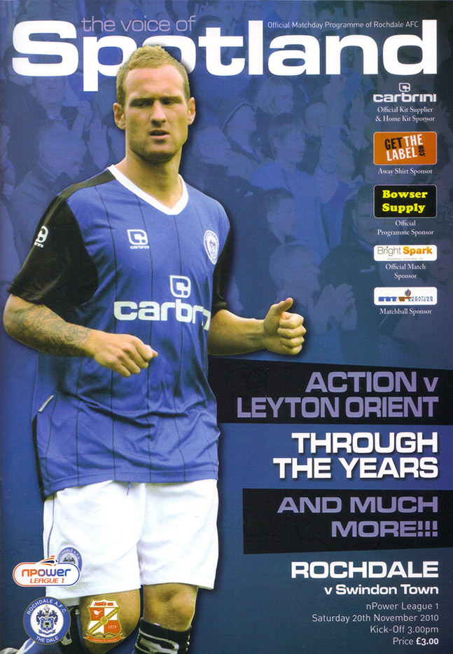 <b>Saturday, November 20, 2010</b><br />vs. Rochdale (Away)