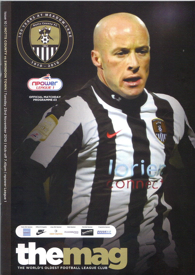 <b>Tuesday, November 23, 2010</b><br />vs. Notts County (Away)