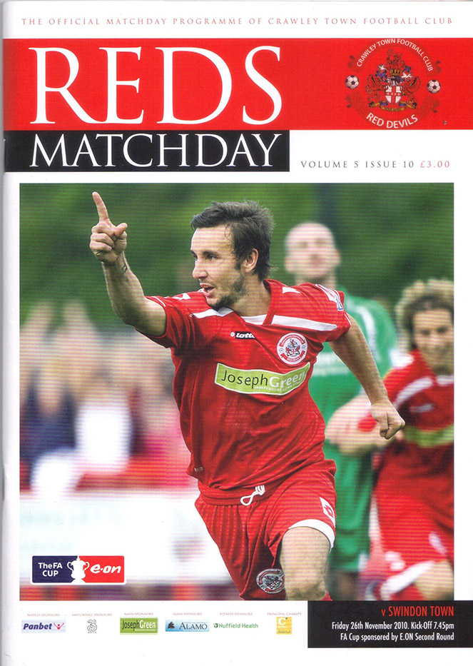 <b>Friday, November 26, 2010</b><br />vs. Crawley Town (Away)