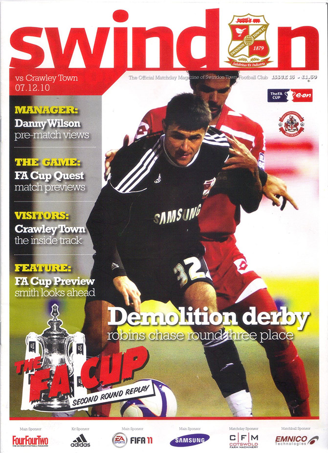 <b>Tuesday, December 7, 2010</b><br />vs. Crawley Town (Home)