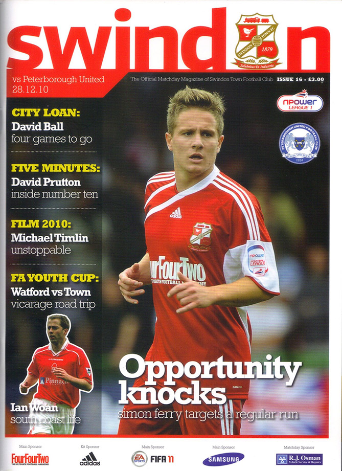 <b>Tuesday, December 28, 2010</b><br />vs. Peterborough United (Home)