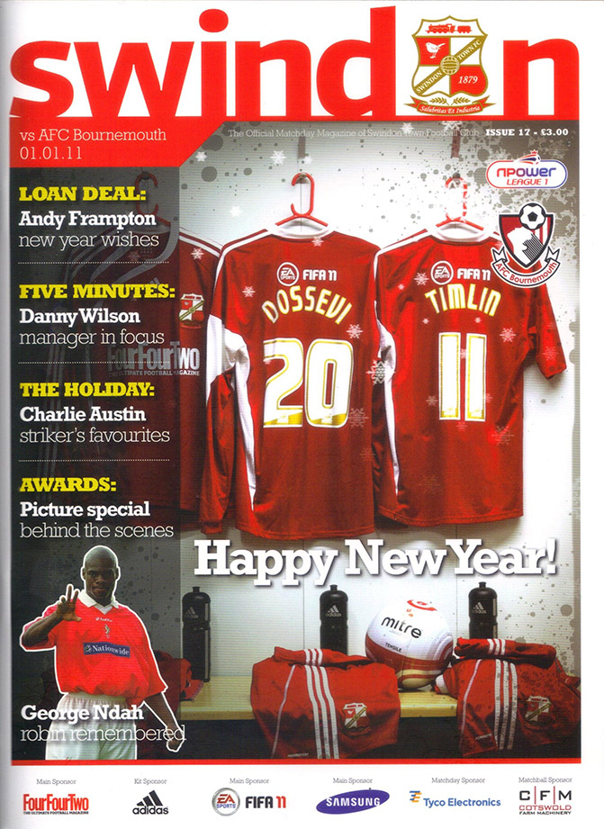 <b>Saturday, January 1, 2011</b><br />vs. AFC Bournemouth (Home)