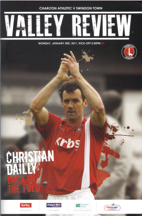 <b>Monday, January 3, 2011</b><br />vs. Charlton Athletic (Away)