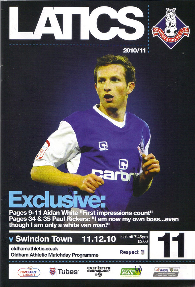 <b>Saturday, January 8, 2011</b><br />vs. Oldham Athletic (Away)