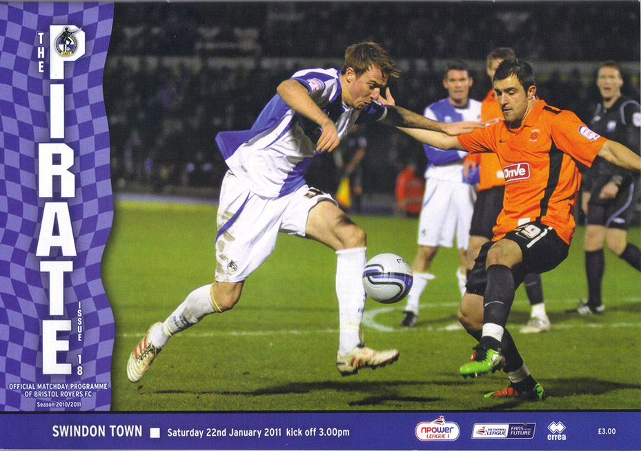 <b>Saturday, January 22, 2011</b><br />vs. Bristol Rovers (Away)