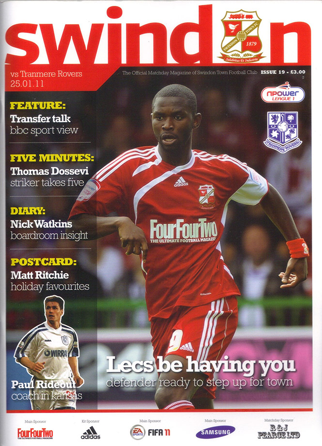 <b>Tuesday, January 25, 2011</b><br />vs. Tranmere Rovers (Home)