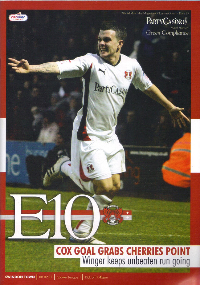 <b>Tuesday, February 8, 2011</b><br />vs. Leyton Orient (Away)
