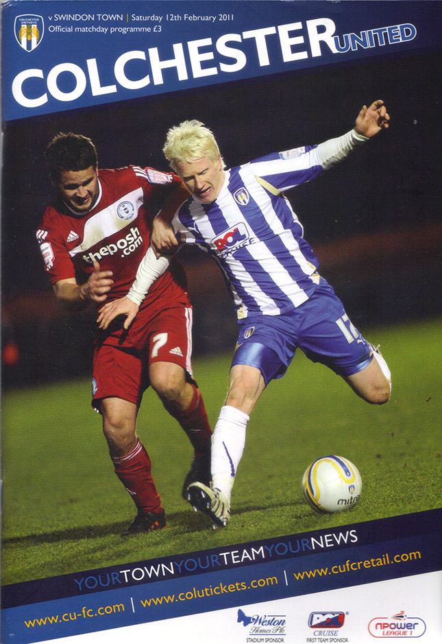 <b>Saturday, February 12, 2011</b><br />vs. Colchester United (Away)