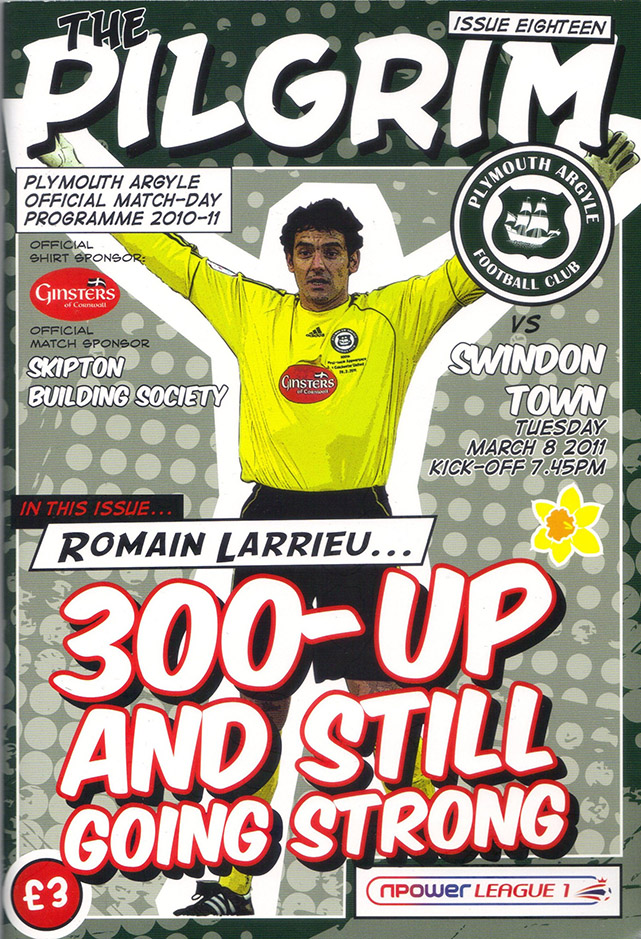<b>Tuesday, March 8, 2011</b><br />vs. Plymouth Argyle (Away)