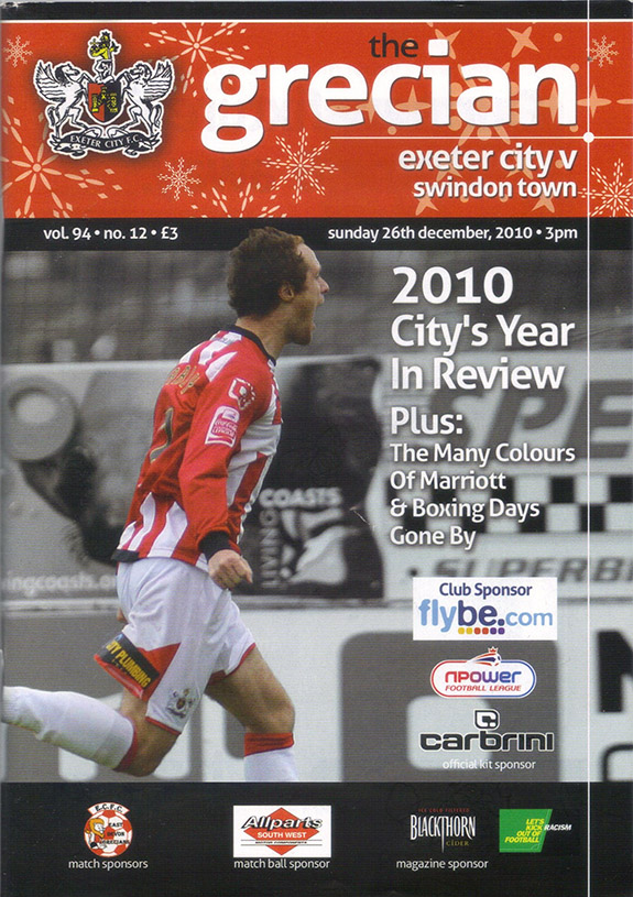 <b>Tuesday, March 29, 2011</b><br />vs. Exeter City (Away)