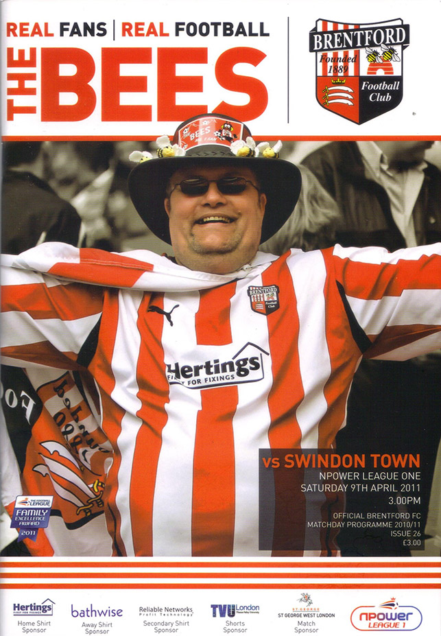 <b>Saturday, April 9, 2011</b><br />vs. Brentford (Away)
