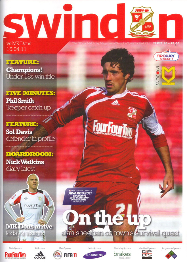 <b>Saturday, April 16, 2011</b><br />vs. Milton Keynes Dons (Home)