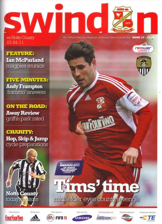 <b>Saturday, April 23, 2011</b><br />vs. Notts County (Home)
