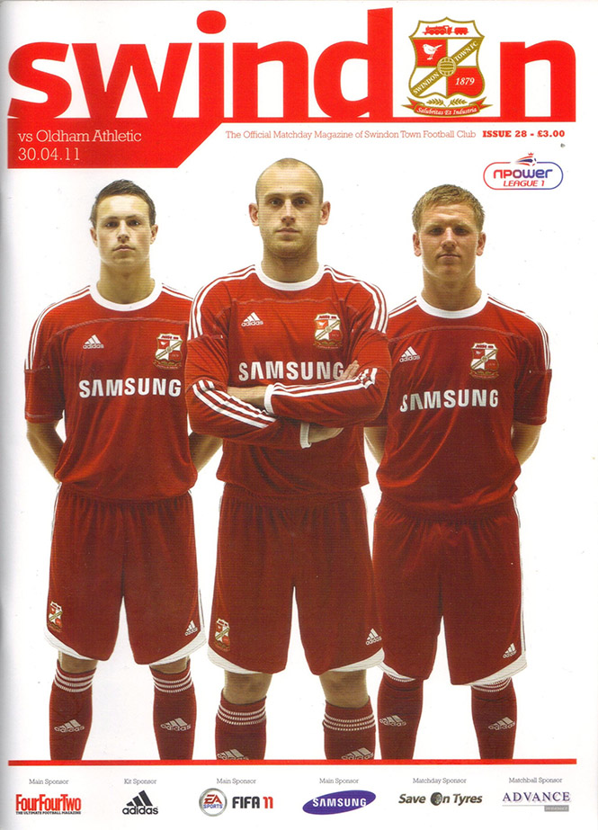 <b>Saturday, April 30, 2011</b><br />vs. Oldham Athletic (Home)