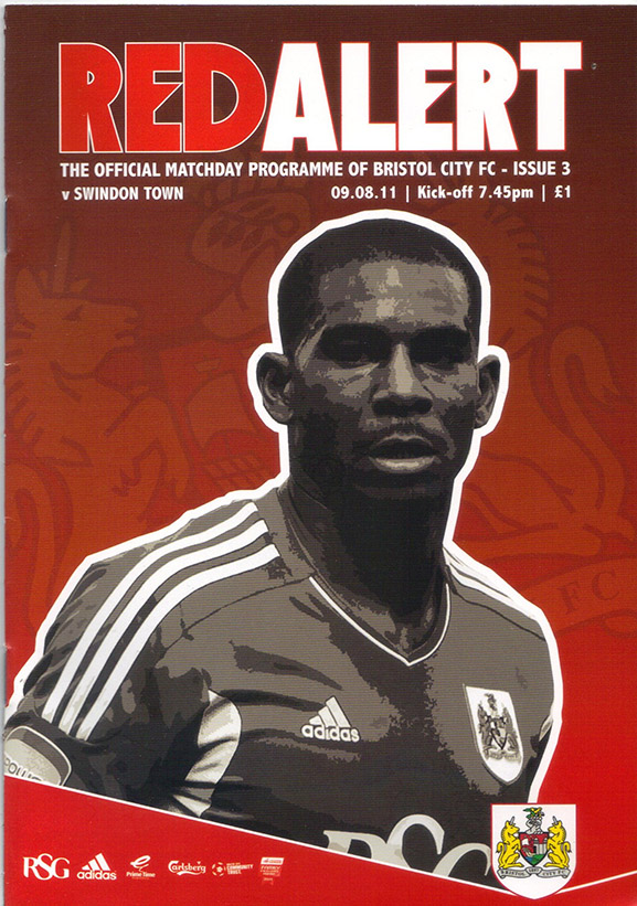 <b>Wednesday, August 24, 2011</b><br />vs. Bristol City (Away)