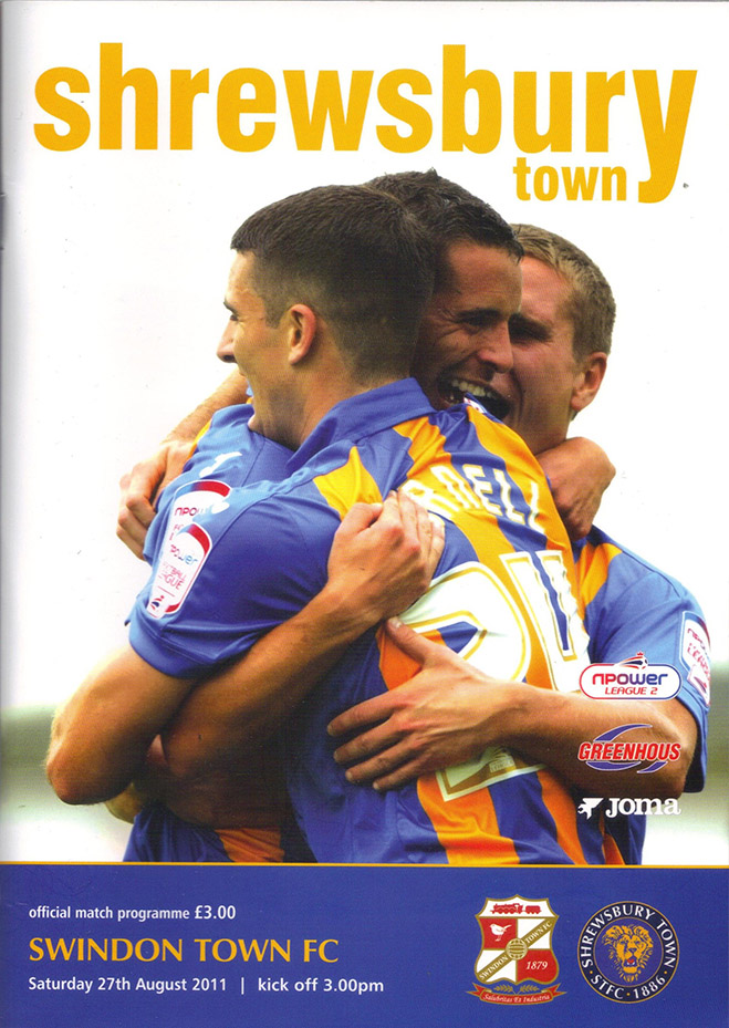 <b>Saturday, August 27, 2011</b><br />vs. Shrewsbury Town (Away)