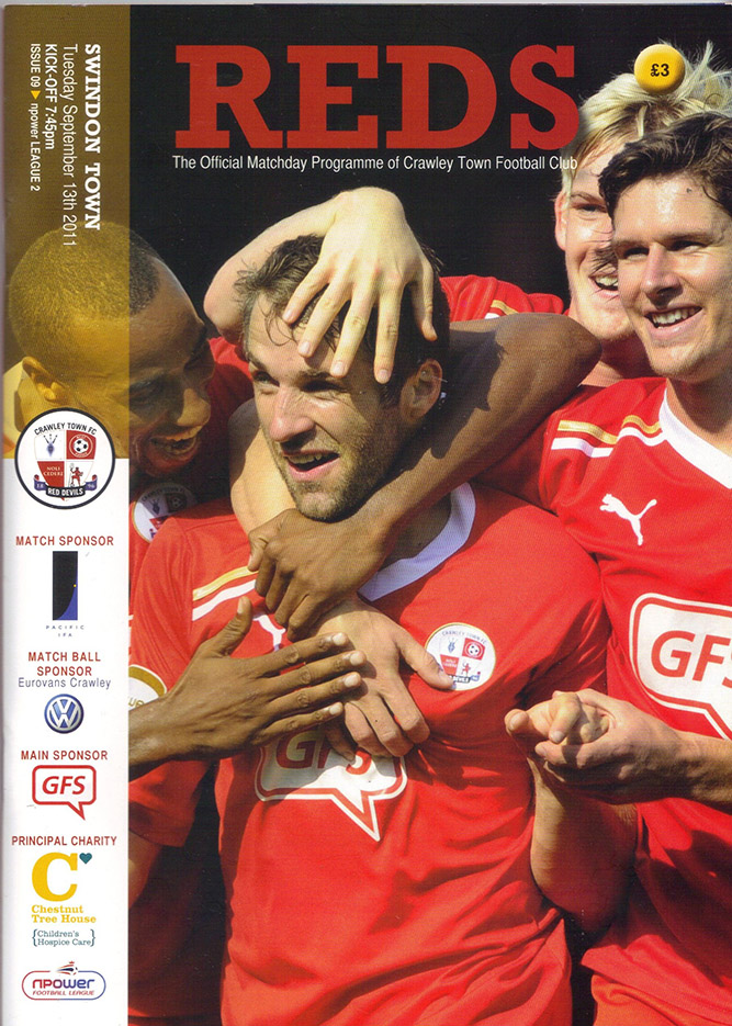 <b>Tuesday, September 13, 2011</b><br />vs. Crawley Town (Away)