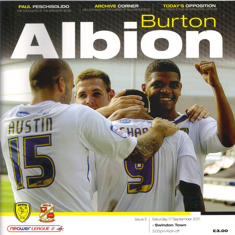 <b>Saturday, September 17, 2011</b><br />vs. Burton Albion (Away)