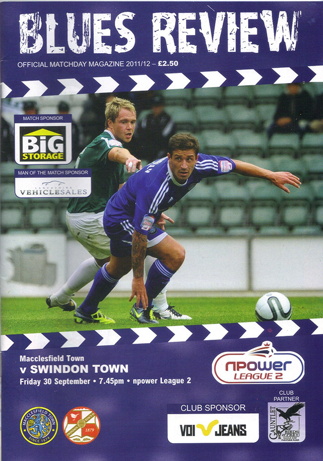 <b>Friday, September 30, 2011</b><br />vs. Macclesfield Town (Away)