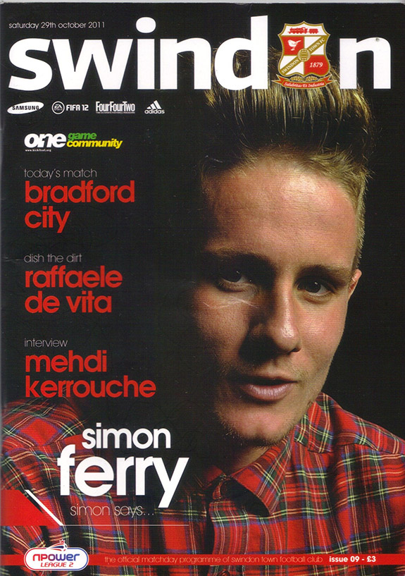 <b>Saturday, October 29, 2011</b><br />vs. Bradford City (Home)