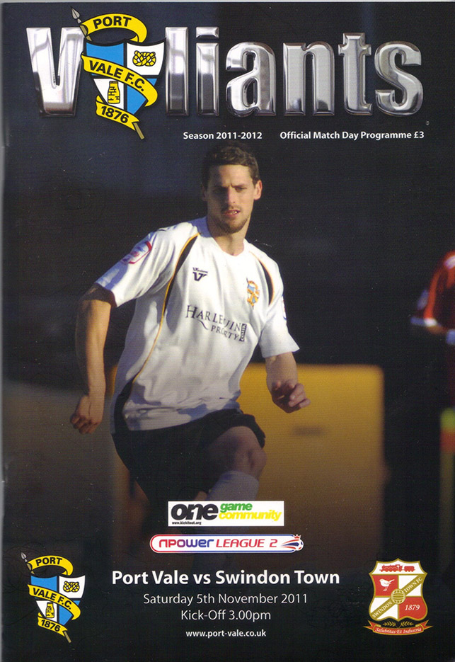 <b>Saturday, November 5, 2011</b><br />vs. Port Vale (Away)