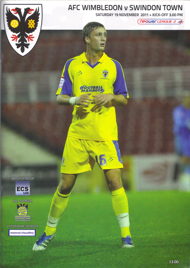 <b>Saturday, November 19, 2011</b><br />vs. AFC Wimbledon (Away)