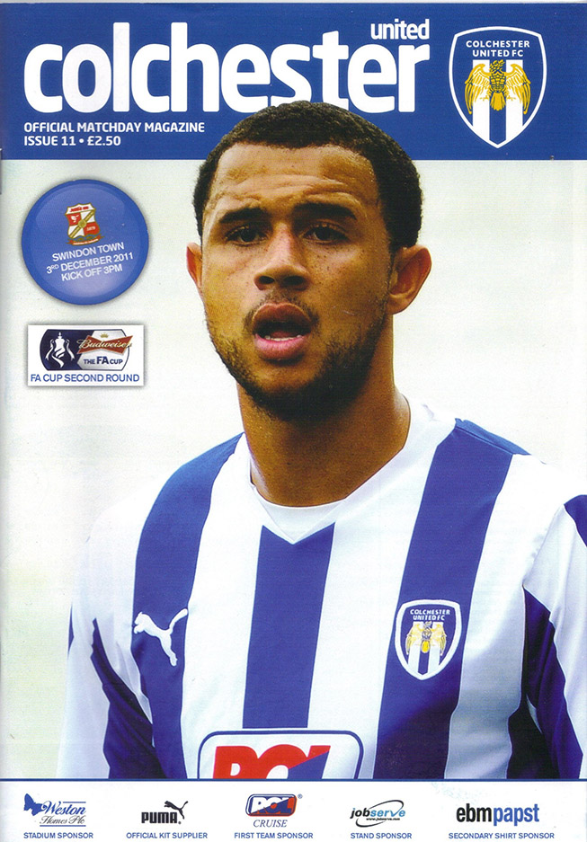 <b>Saturday, December 3, 2011</b><br />vs. Colchester United (Away)