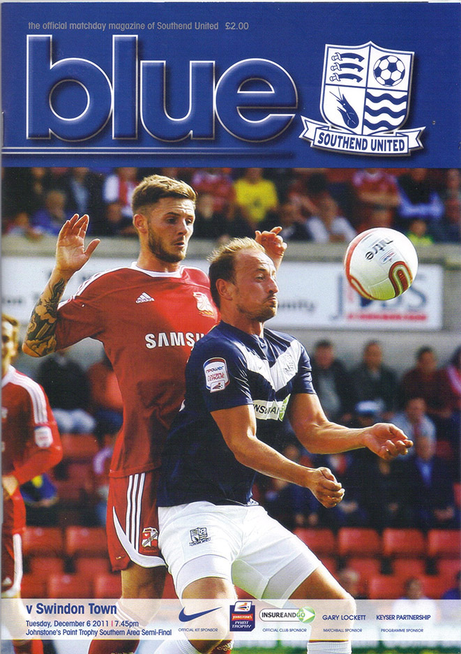 <b>Tuesday, December 6, 2011</b><br />vs. Southend United (Away)
