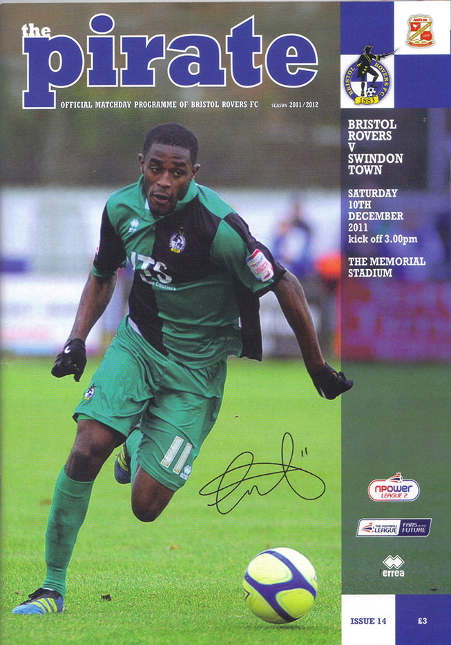<b>Saturday, December 10, 2011</b><br />vs. Bristol Rovers (Away)