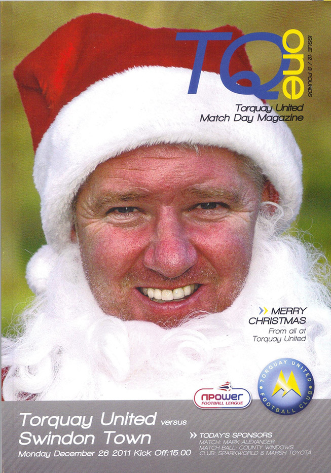 <b>Monday, December 26, 2011</b><br />vs. Torquay United (Away)