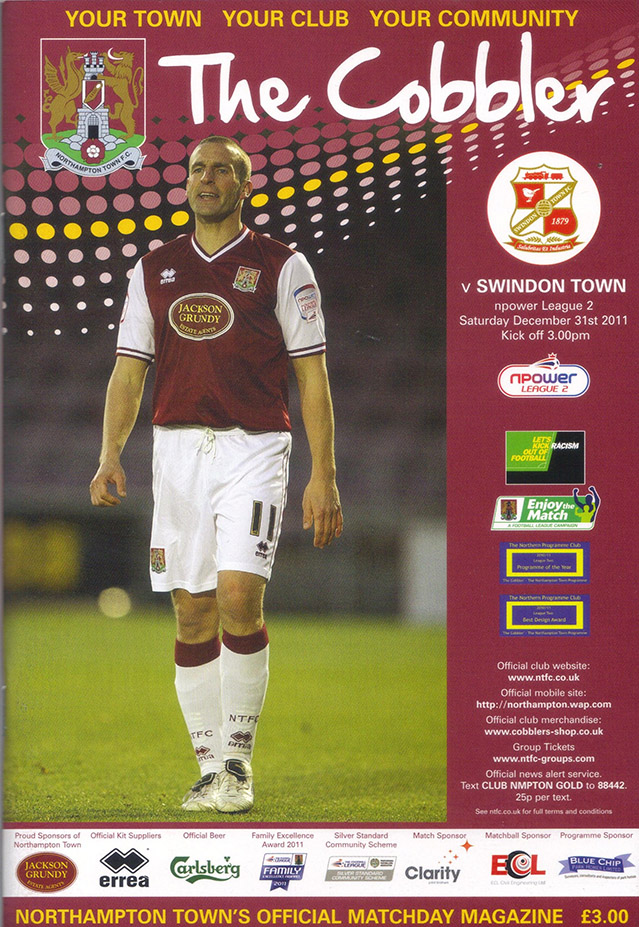 <b>Saturday, December 31, 2011</b><br />vs. Northampton Town (Away)