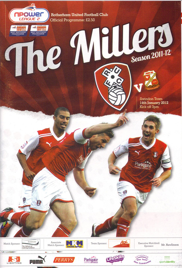 <b>Saturday, January 14, 2012</b><br />vs. Rotherham United (Away)