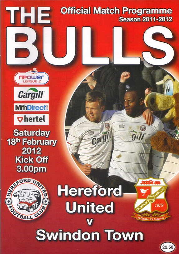 <b>Saturday, February 18, 2012</b><br />vs. Hereford United (Away)