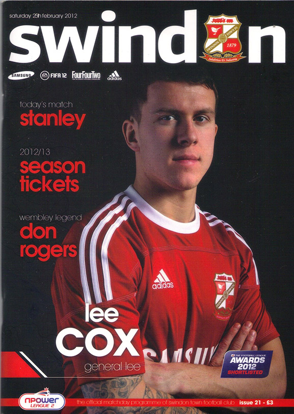 <b>Saturday, February 25, 2012</b><br />vs. Accrington Stanley (Home)