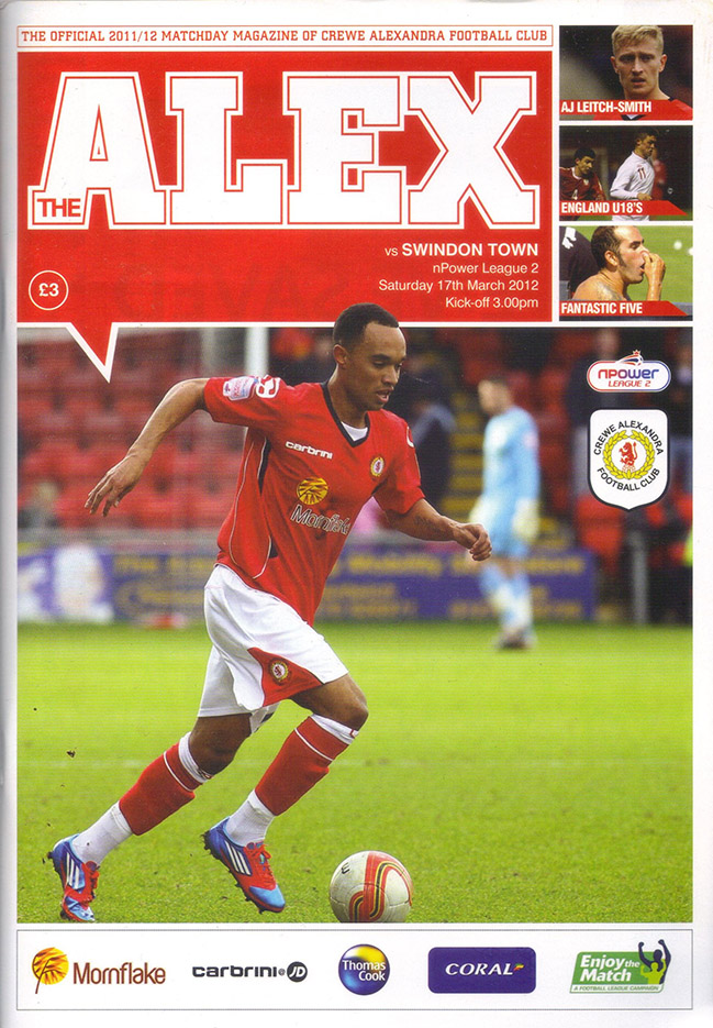 <b>Saturday, March 17, 2012</b><br />vs. Crewe Alexandra (Away)