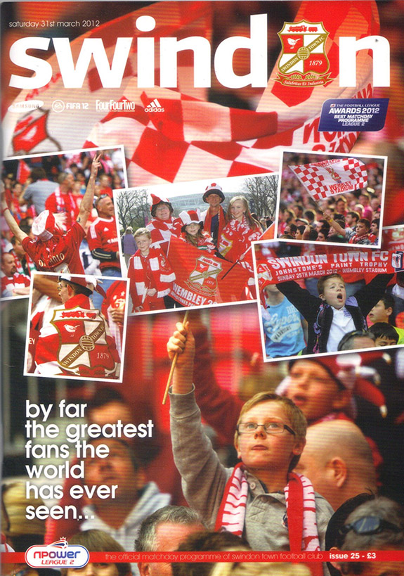 <b>Saturday, March 31, 2012</b><br />vs. Bristol Rovers (Home)
