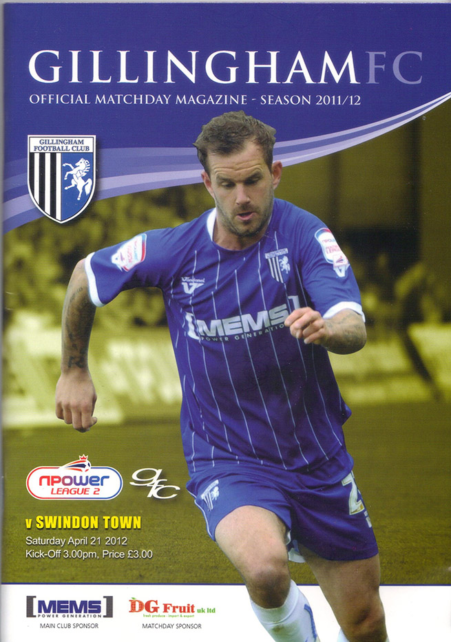 <b>Saturday, April 21, 2012</b><br />vs. Gillingham (Away)