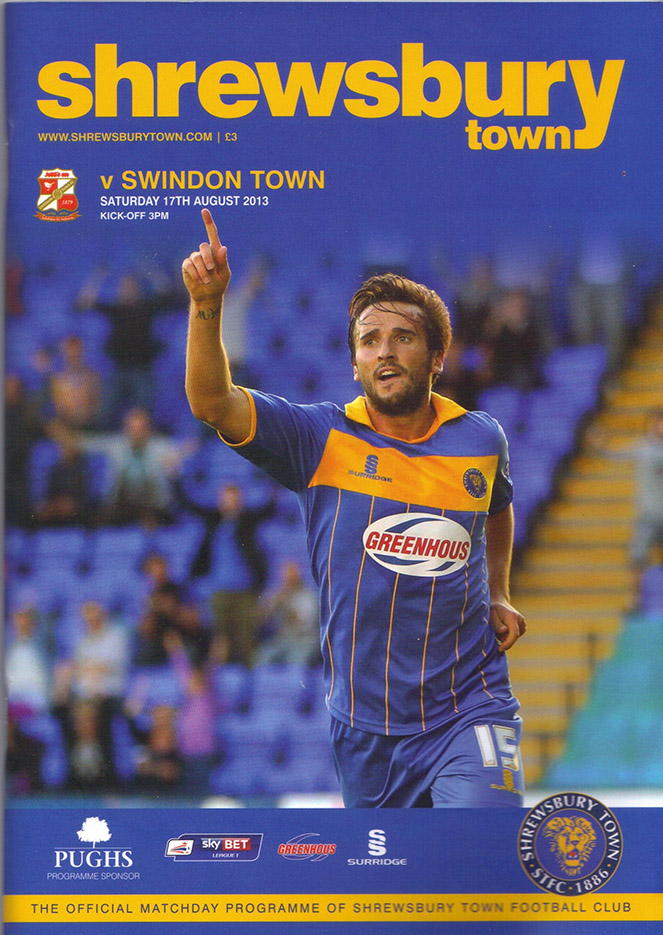 <b>Saturday, August 17, 2013</b><br />vs. Shrewsbury Town (Away)