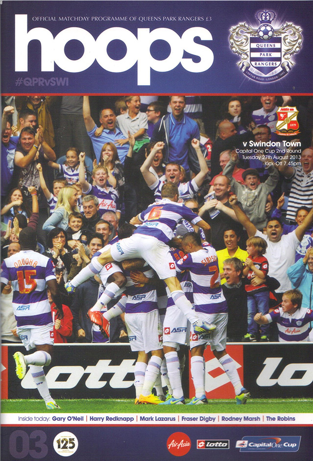 <b>Tuesday, August 27, 2013</b><br />vs. Queens Park Rangers (Away)